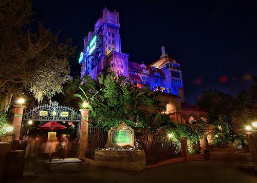 Disney Hollywood Tower of Terror At Night