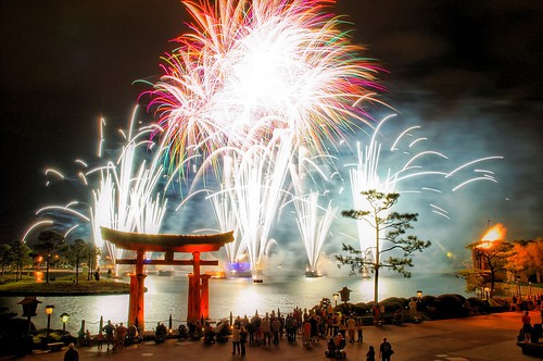 View Disney Epcot Fireworks