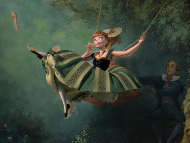 Disney Frozen Swing Picture
