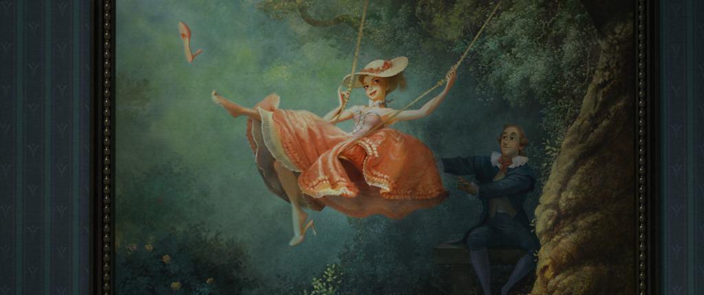 Disney Tangled Swing Painting