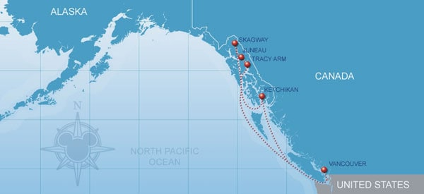 Disney Cruise Alaska Map