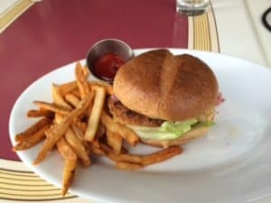 Disneyland Carnation Cafe Vegan Burger