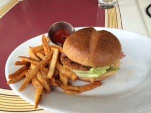 Disneyland Carnation Cafe Vegan Burger