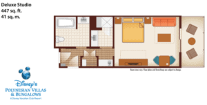Disney Polynesian Resort Studio Floor Plan