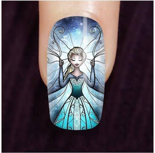 Top 10 Disney Frozen Nail Art Ideas