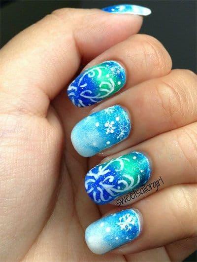 Disney Frozen Nail Art Idea