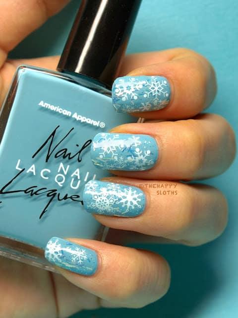 Disney Frozen Snowflake Nails