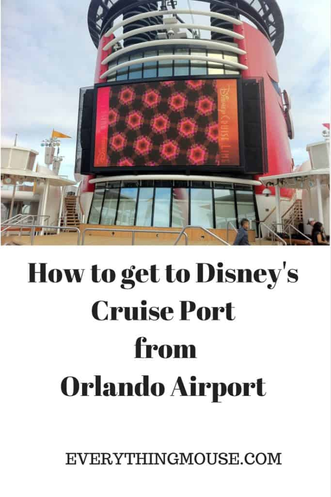 How to get to Disney's Cruise Port from Orlando