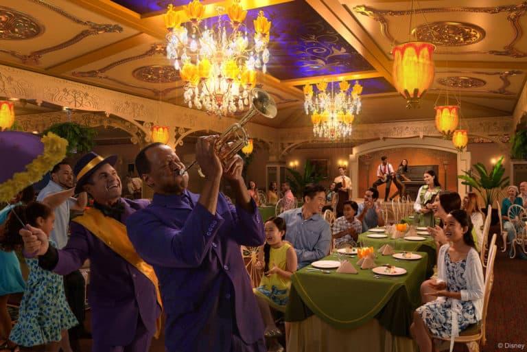 Disney wonder tianas place restaurant