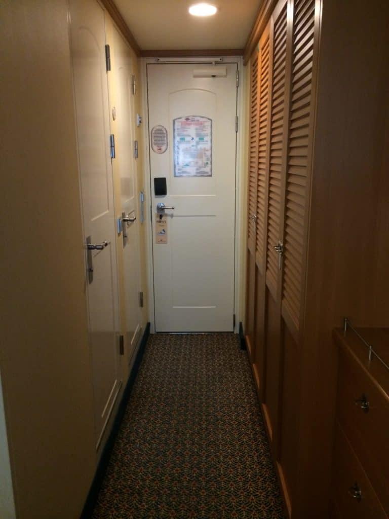Disney cruise stateroom storage