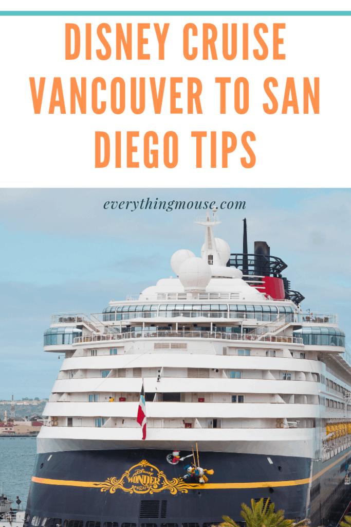 Disney Cruise Vancouver to San Diego