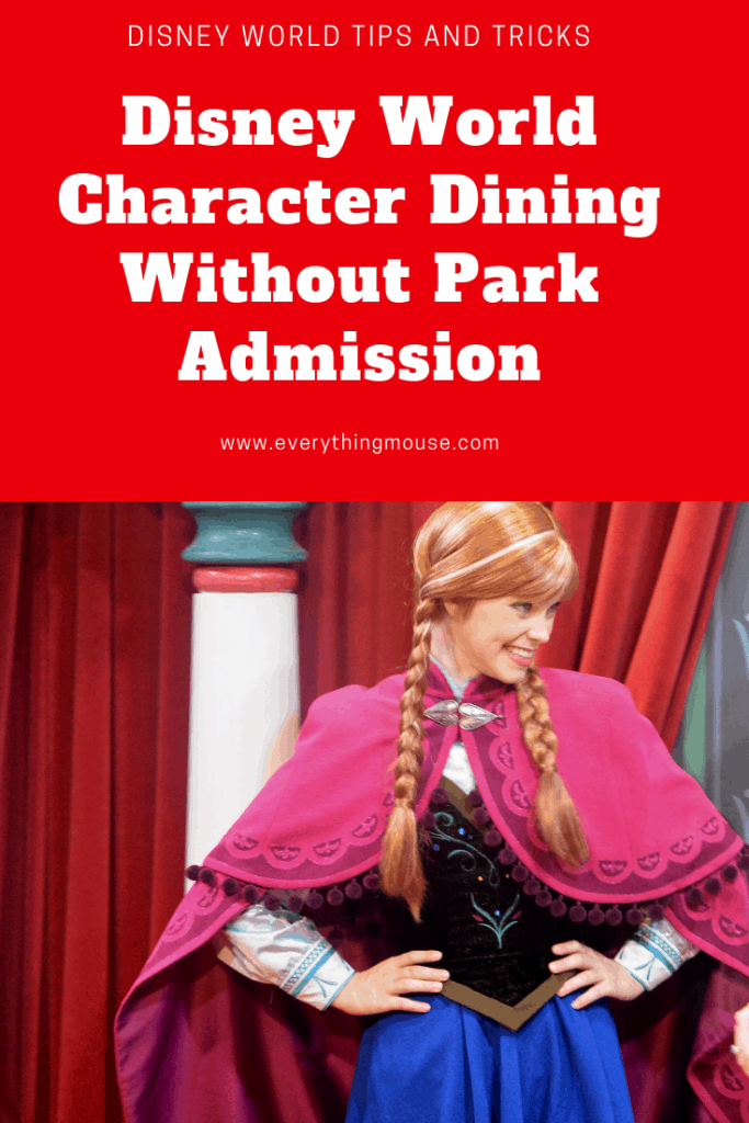 Disney World Character Dining Without Park Admission
