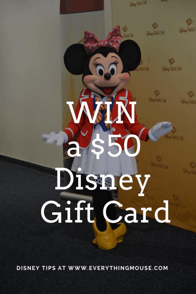 WIN a $50 Disney Gift Card