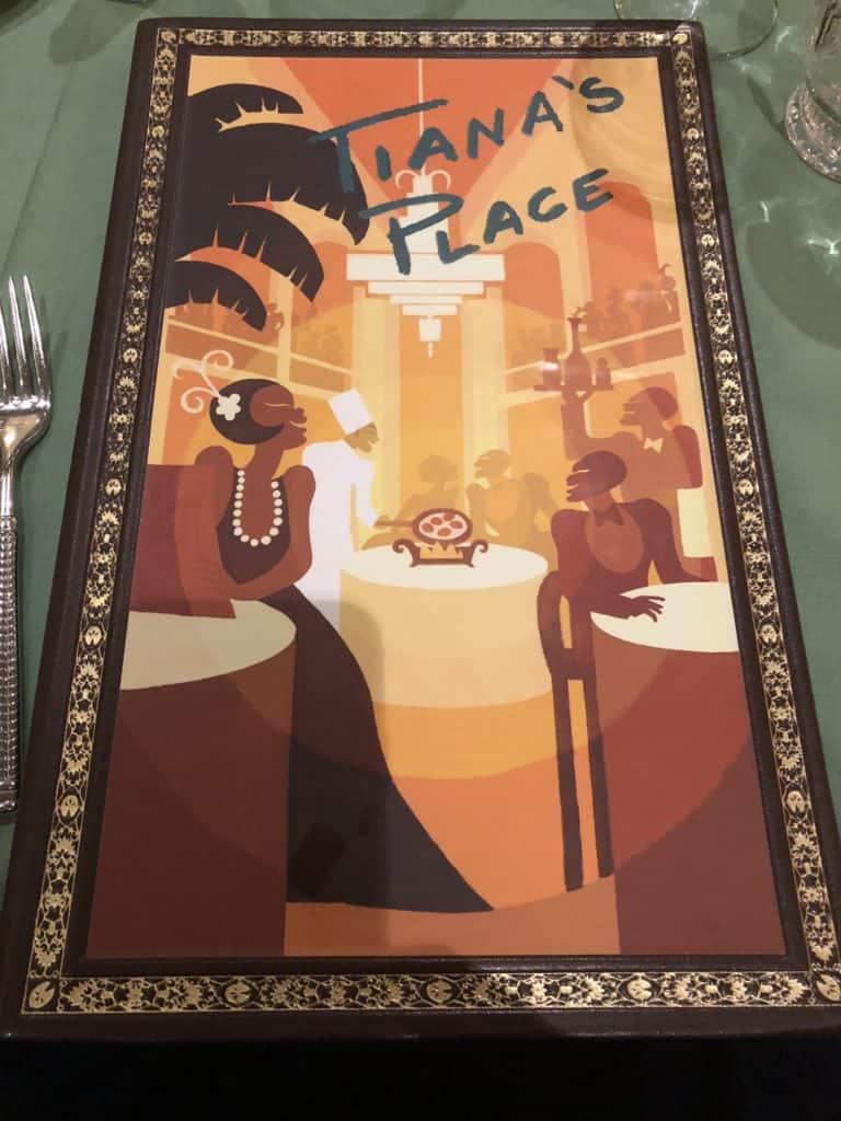 Disney Wonder Tiana's Place Menu