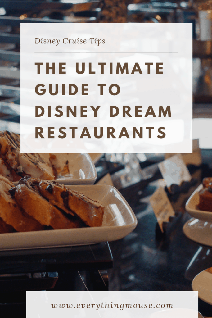 The ultimate guide to disney dream restaurants