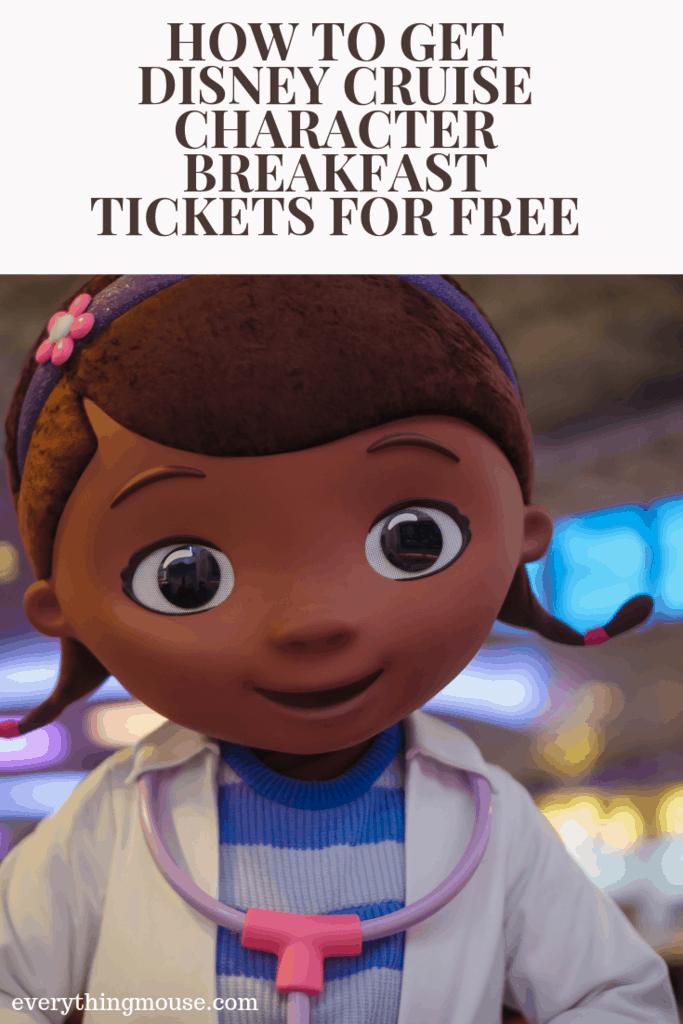 Disney Cruise Character Breakfast tickets