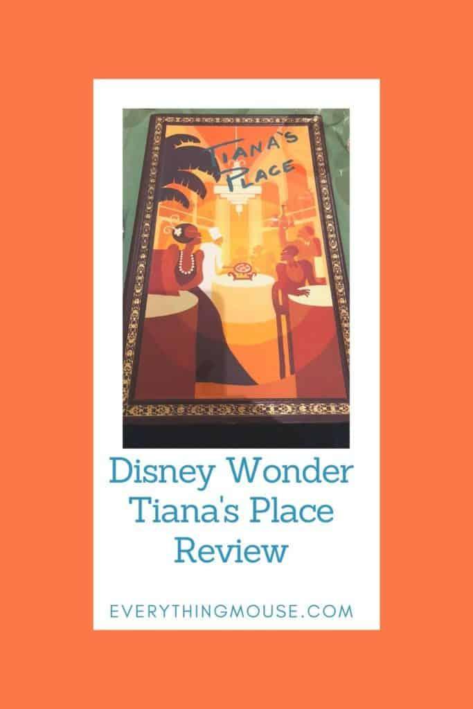Disney Wonder Tiana S Place Menu Everythingmouse Guide To Disney