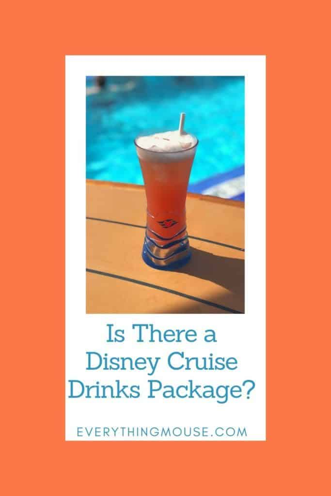 Is There a Disney Cruise Drinks Package