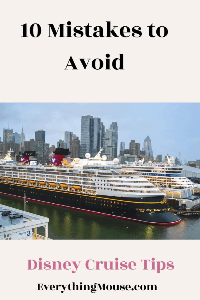 Disney Cruise Mistakes to Avoid