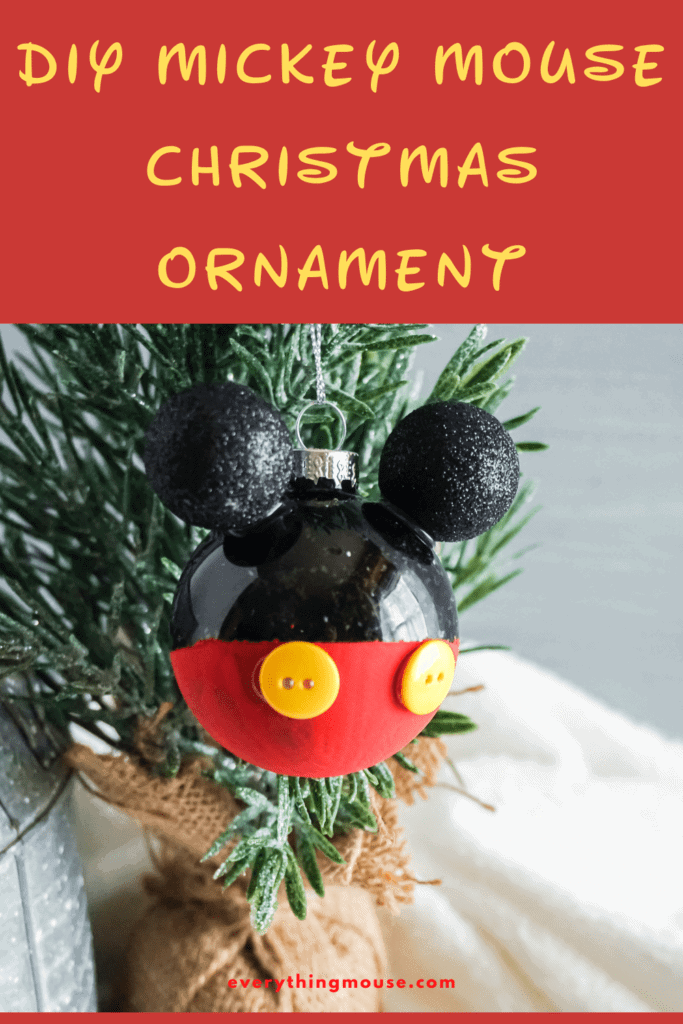 Diy Mickey Mouse Ornament For Christmas Everythingmouse Guide To Disney