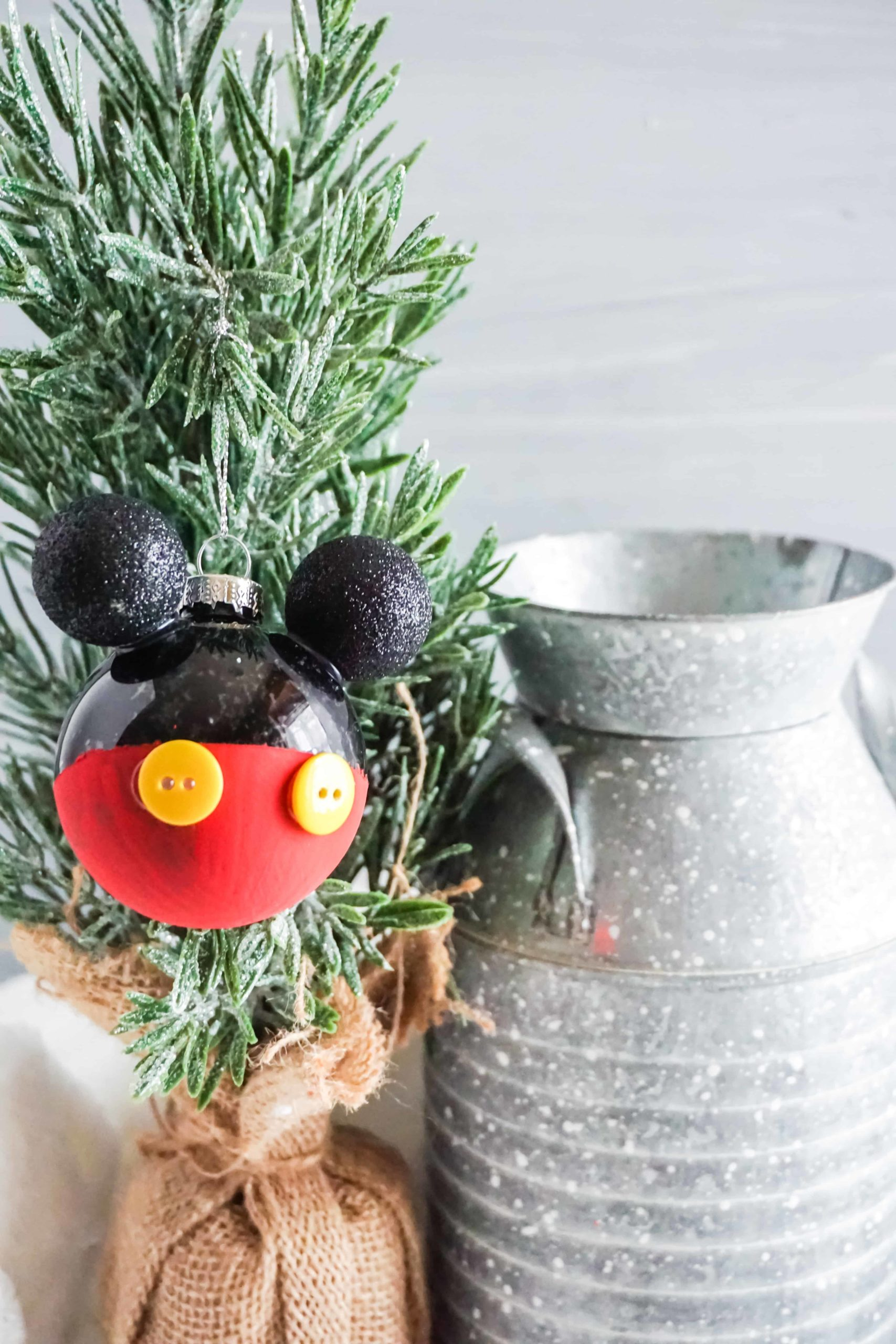DIY Mickey Mouse Ornament for Christmas