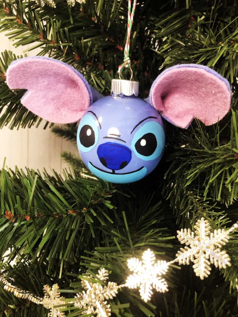 DIY Disney Christmas Ornament Stitch