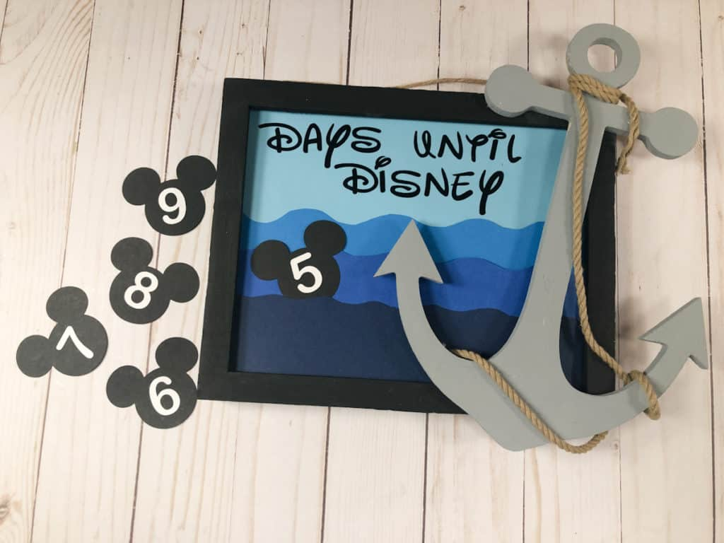 Disney Cruise Countdown DIY