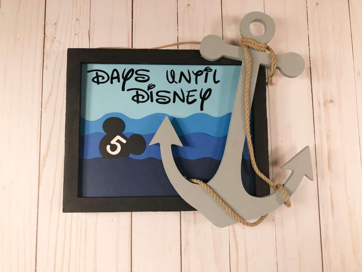 Disney Countdown Calendar Craft