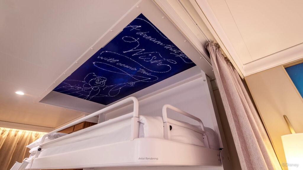 Disney Wish Stateroom  Bunk Bed