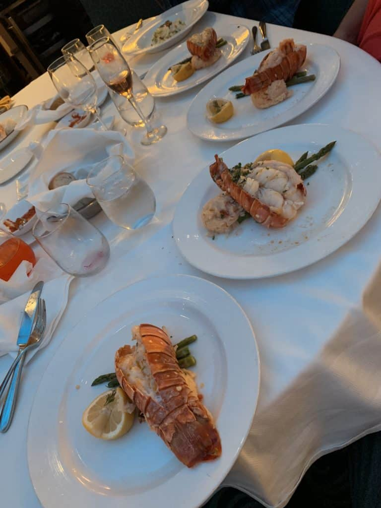 Disney Cruise formal night menu lobster