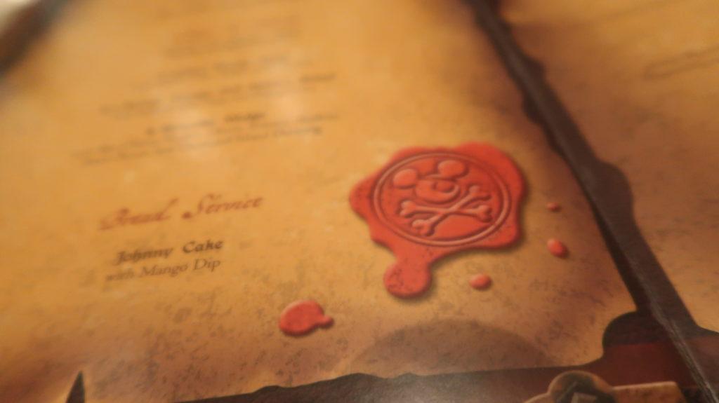 disney cruise pirates night menus