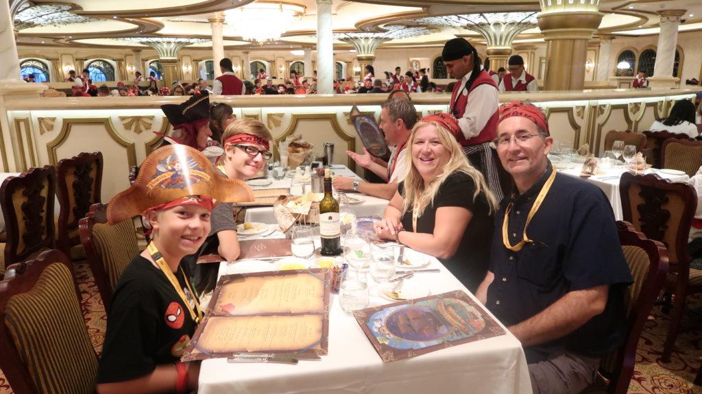 Disney Cruise Pirates Night Dinner Options
