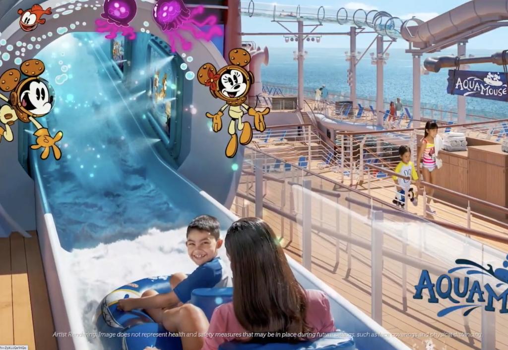 Disney Wish Aqua Mouse