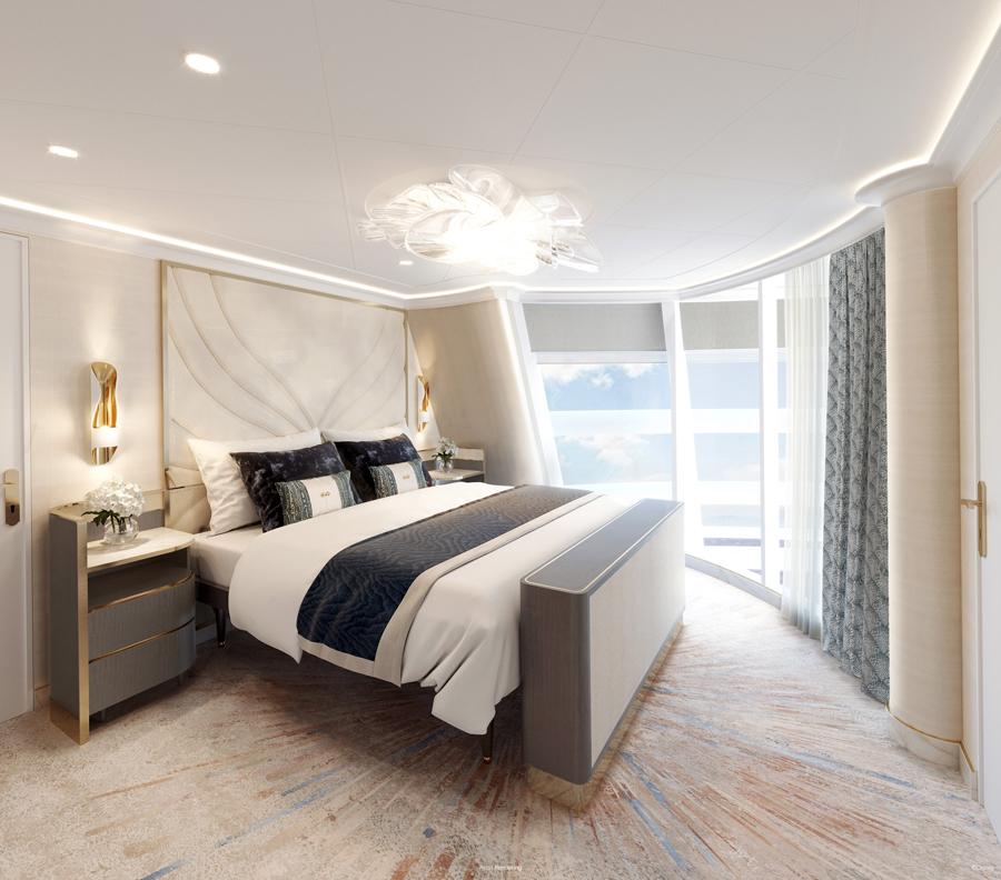 Disney Wish Tower Suite Bedroom
