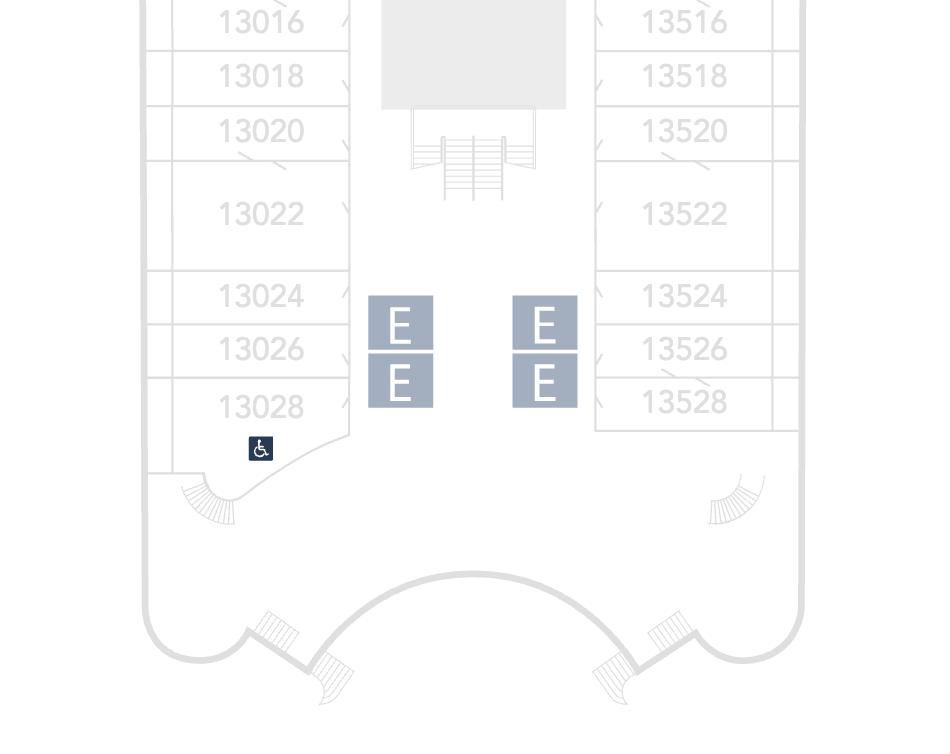 Disney Wish Deck Plan 13 Showing Concierge Staterooms