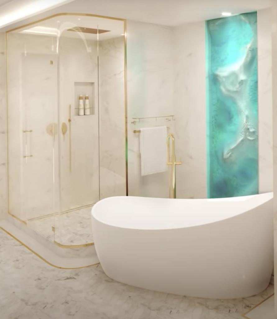 Disney Wish Tower Suite Bath