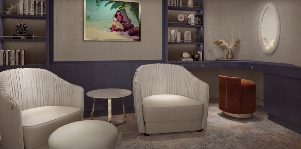 Disney Wish Tower Suite Library