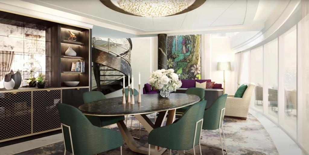 Disney Wish ROyal Suites Living Room