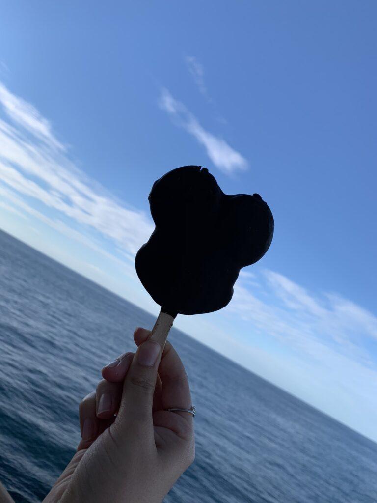 mickey chocolate ice cream