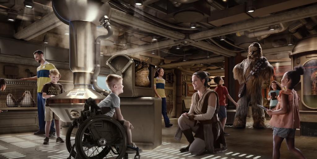 Disney star wars on Disney Ships